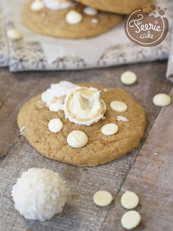 Qu'il est beau ce cookie chocolat blanc coco