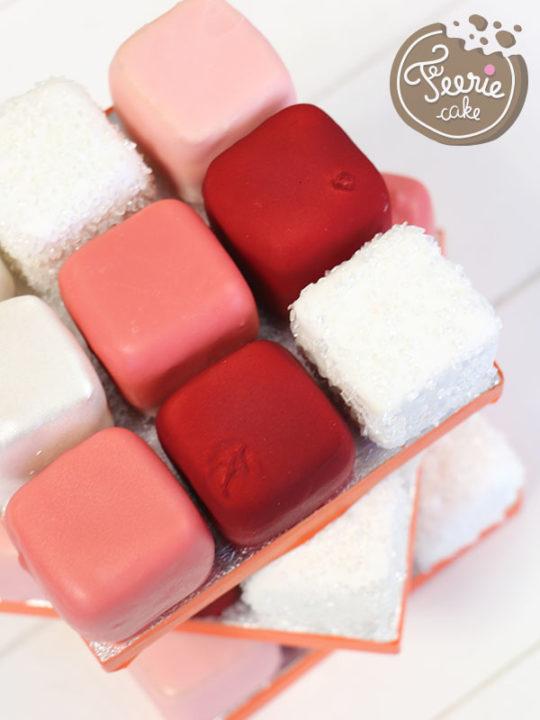Rubik's cake saint valentin