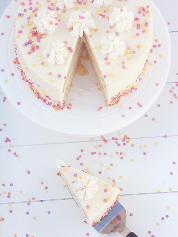 Layer cake vanille