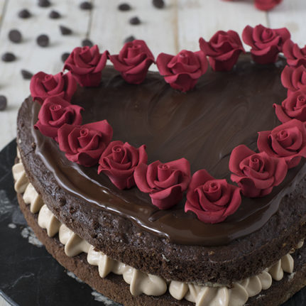 Layer Cake St Valentin chocolat/praliné