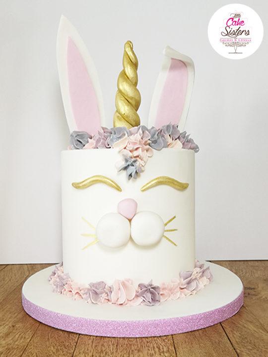 Lapin licorne cake design