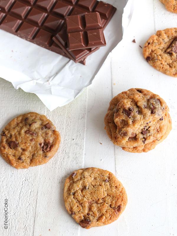 Recette de cookie aux pépites de chocolat vegan