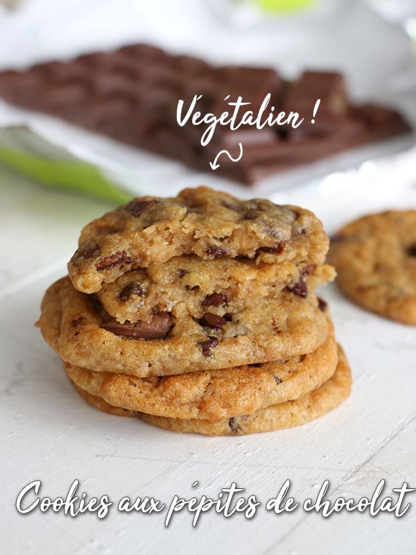 cookies v g taliens aux p pites de chocolat f erie cake. Black Bedroom Furniture Sets. Home Design Ideas