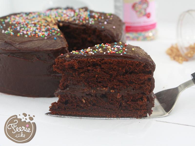 gâteau au chocolat noisettes végétalien