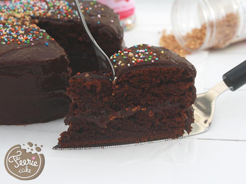 Gâteau végétalien chocolat noisettes