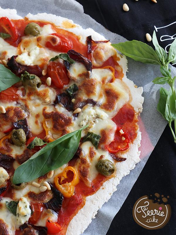 Recette pizza végétarienne sans gluten