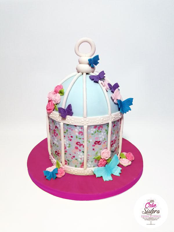 Cake Design : une volière à oiseaux