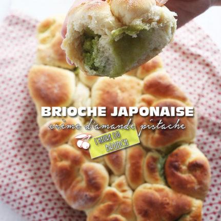 Brioche japonaise à la crème d'amande pistache