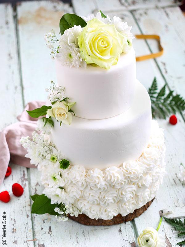 Recette du Tuto Wedding Cake - Gâteau de Mariage fourrage cœur