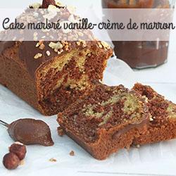 Cake marbé vanille-crème de marron