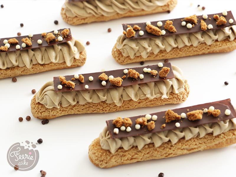 Etape décoration en chocolat pour Paris Brest façon éclairs
