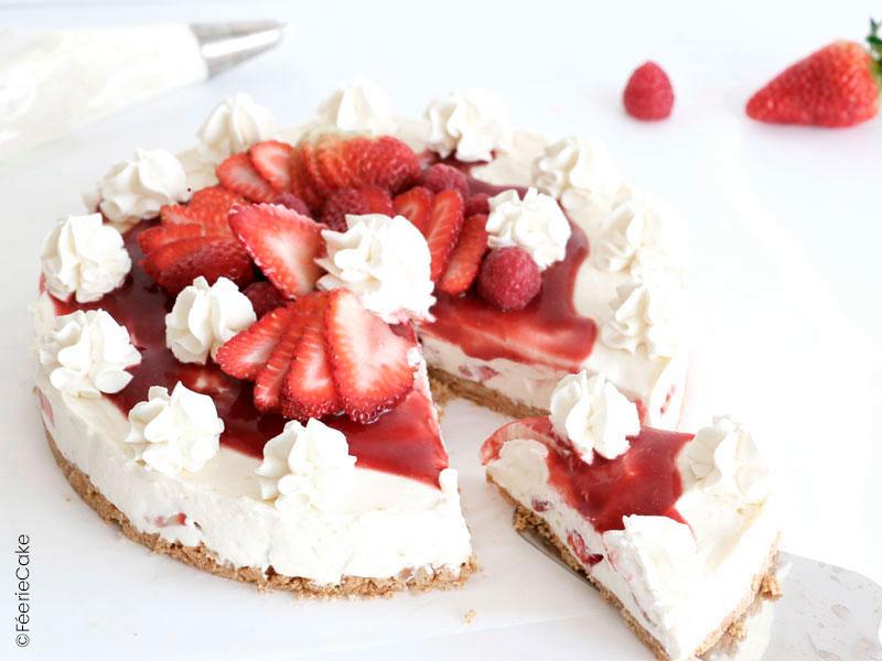 Recette simple cheesecake aux fraises