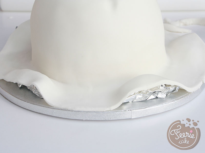 Gâteau chapeau été en pâte à sucre