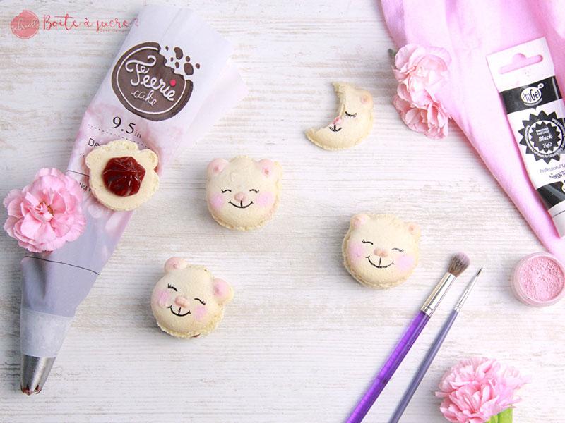 Recette macaron ourson de Gabriella boîte à sucre