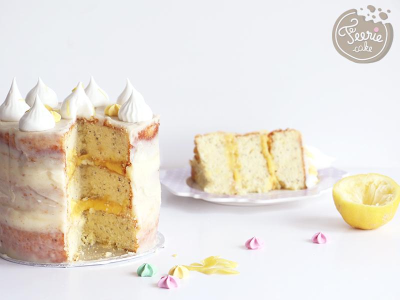 Layer cake façon tarte au citron meringuée