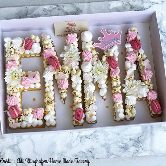 Letter Cake by Adi Klinghofer Home Made Bakery