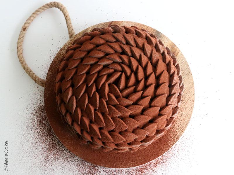 Recette de l'entremet chocolat, noisettes et caramel