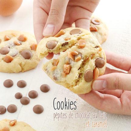 Cookies aux pépites de chocolat au lait et caramel