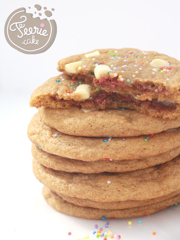 Jumbo cookies coeur croustillant framboise et chocolat blanc
