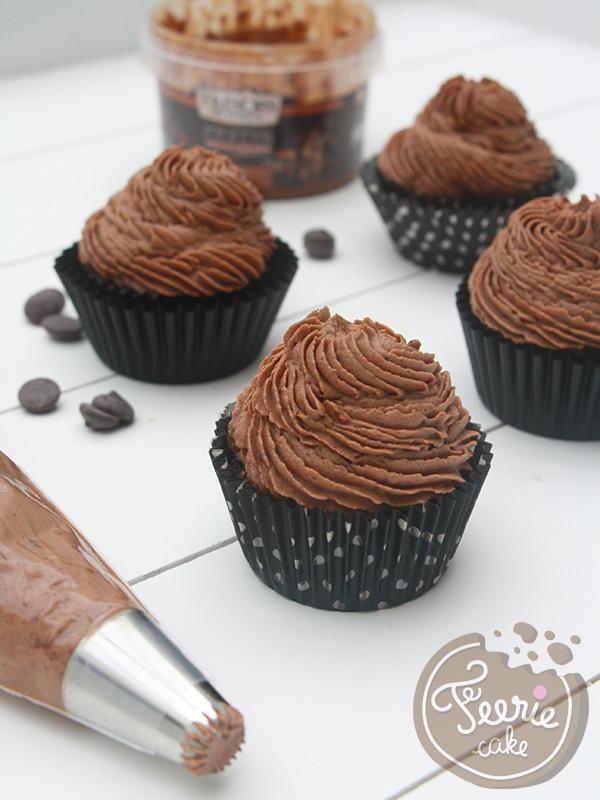 Cupcakes coulant praliné feuillantine