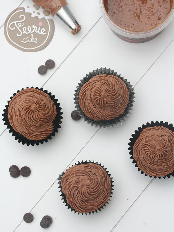 Cupcakes coulants praliné feuillantine