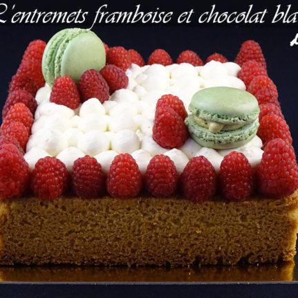 L'entremets framboise et chocolat blanc d'Alison
