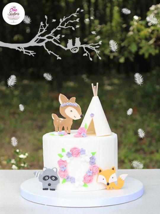 Gâteau final dans la forêt