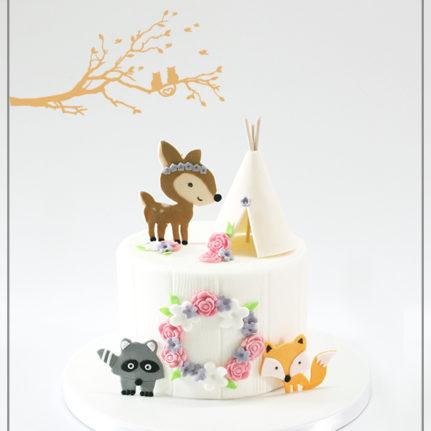 Tutoriel : le gâteau forêt enchantée
