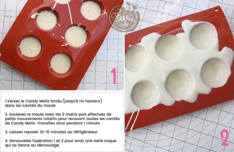 Réaliser des demi-sphères en chocolat