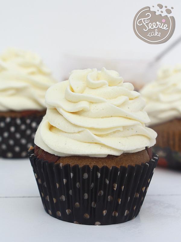 Cupcakes croustillant spéculoos et ganache chocolat blanc