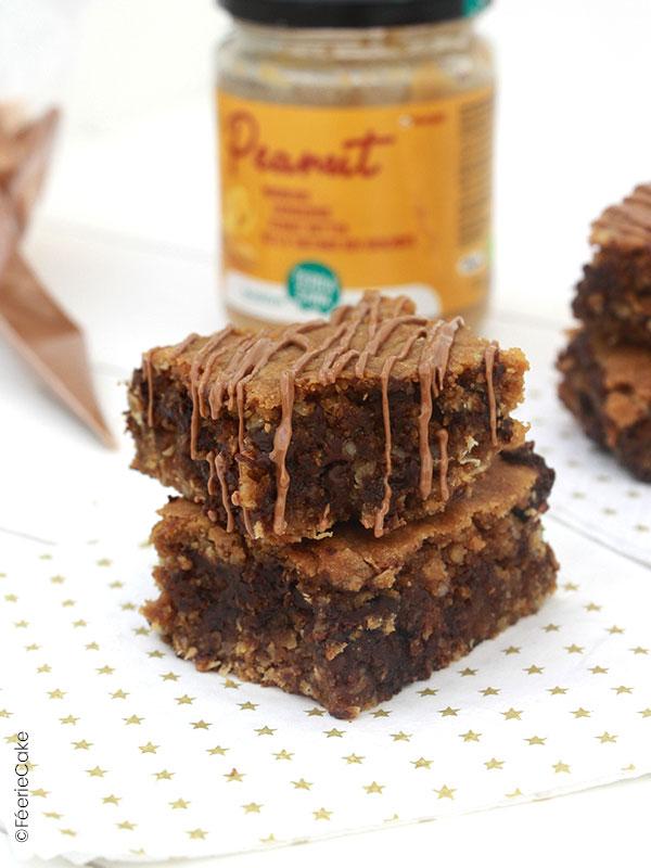 Recette végétalienne, vegan brownie au beurre de cacahuète