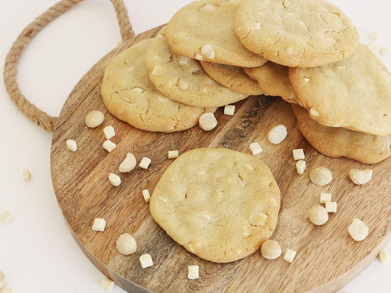 La recette des ccokies chocolat blanc et noix de macadamia