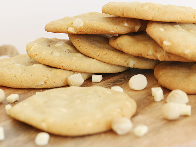 Recette des cookies chocolat blanc et noix de macadamia