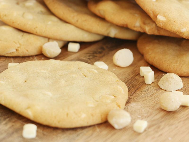 Recette cookies chocolat blanc et noix de macadamia