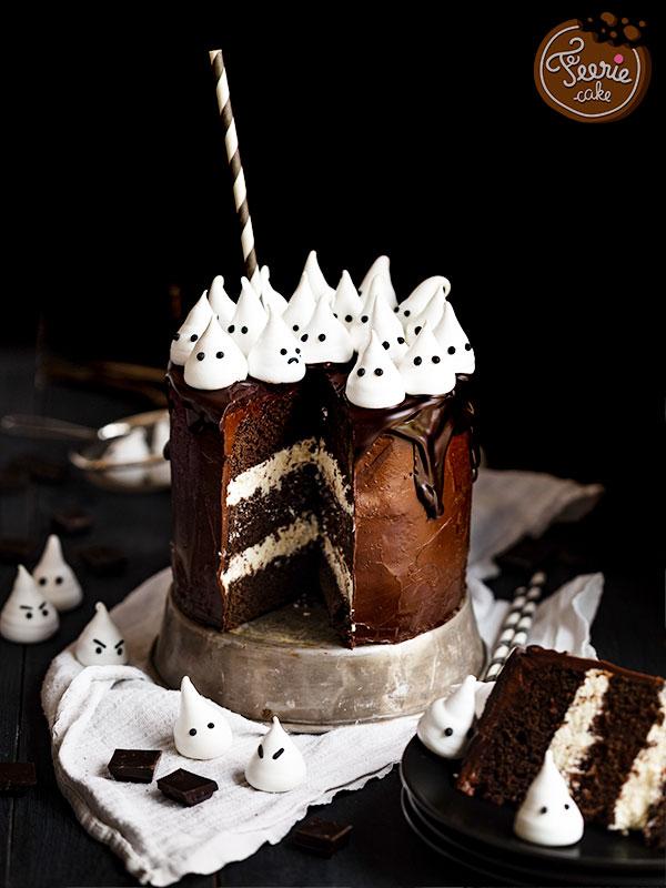 Layer Cake Fantôme de Féerie Cake pour Halloween