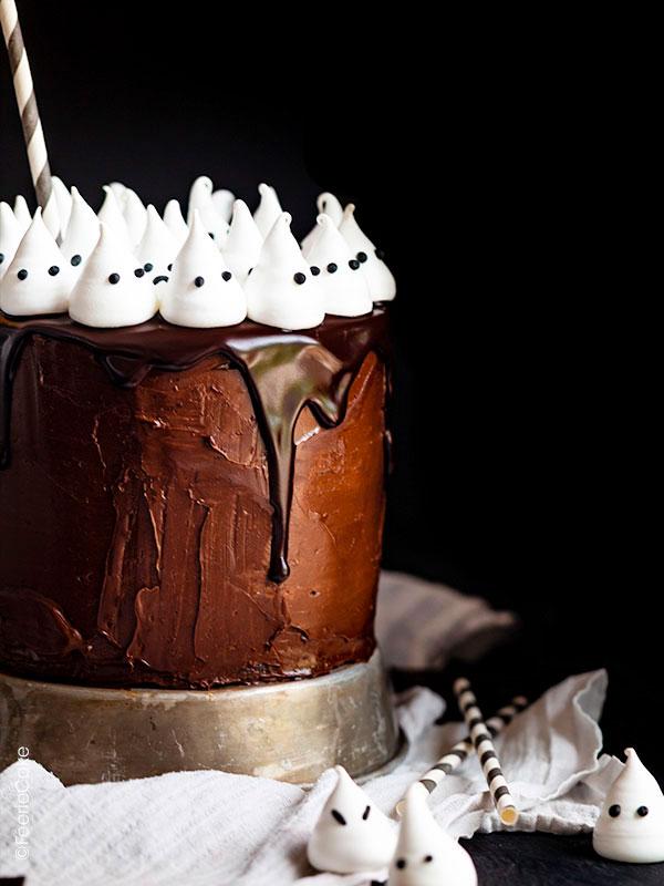 Top 10 des meilleures recettes d'Halloween : Le layer Cake Mini Fantômes