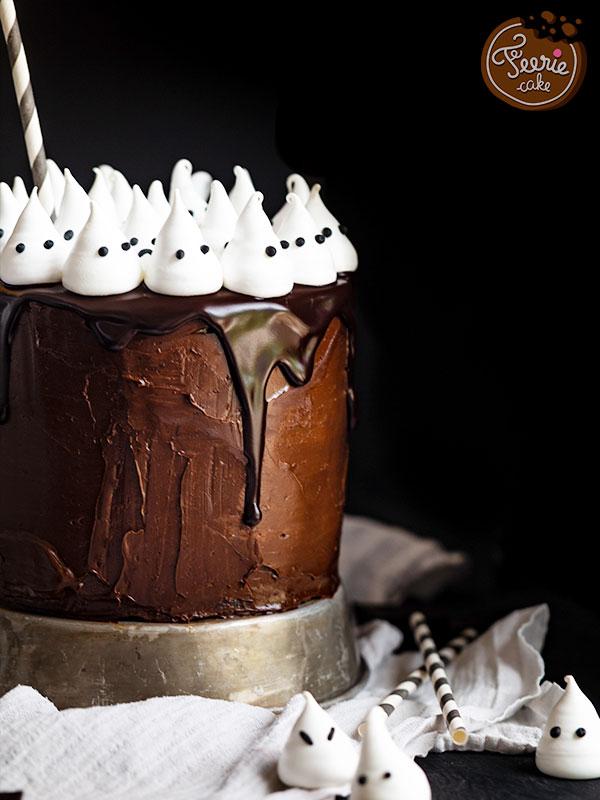 Top 10 des meilleures recettes d'Halloween: Le layer Cake Mini Fantômes