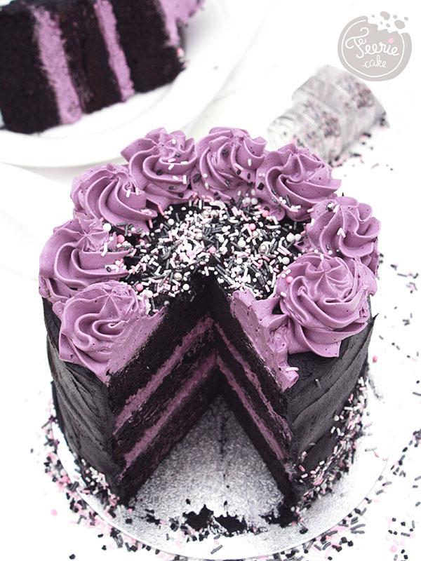 Top 10 des meilleures recettes d'Halloween: Le Layer Cake Purple Rain