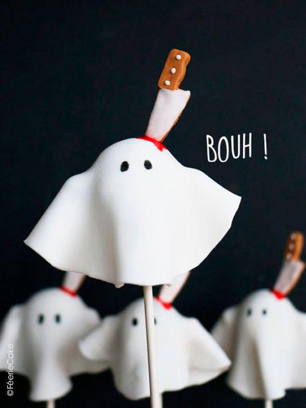Top 10 des meilleures recettes d'Halloween : Les cake pops Fantômes