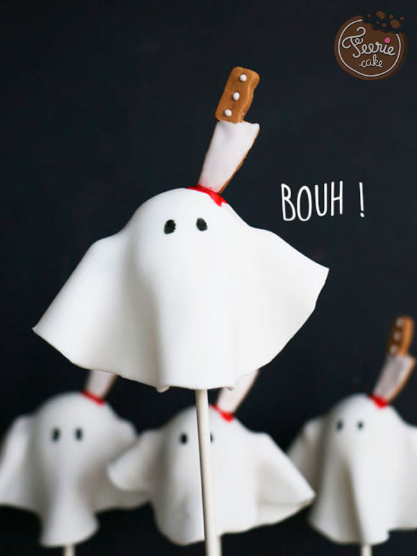 Top 10 des meilleures recettes d'Halloween: Les cake pops Fantômes