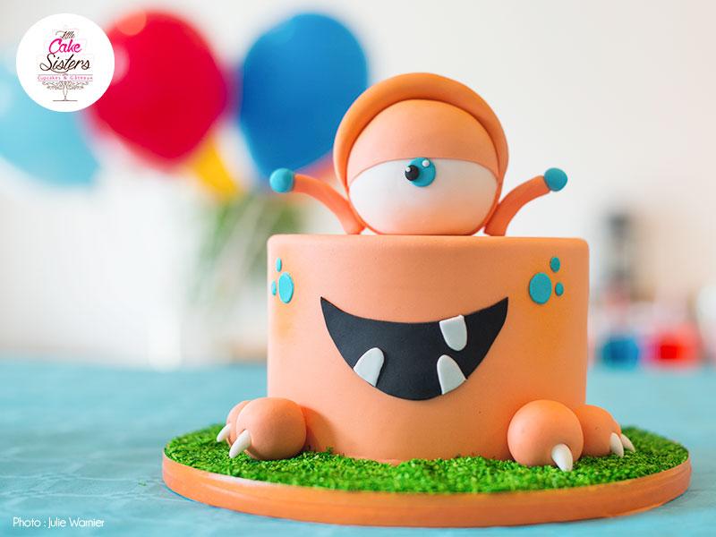 Gâteau Monstre Mignon pour Halloween