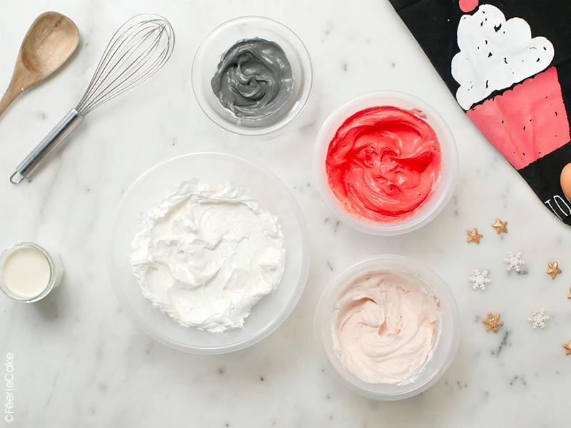 Ingrédient pour la recette du gâteau cupcakes Père Noël