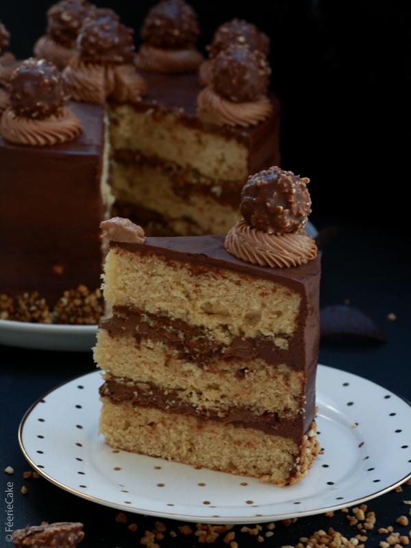 Recette du Gâteau Layer Cake au Ferreiro Rocher