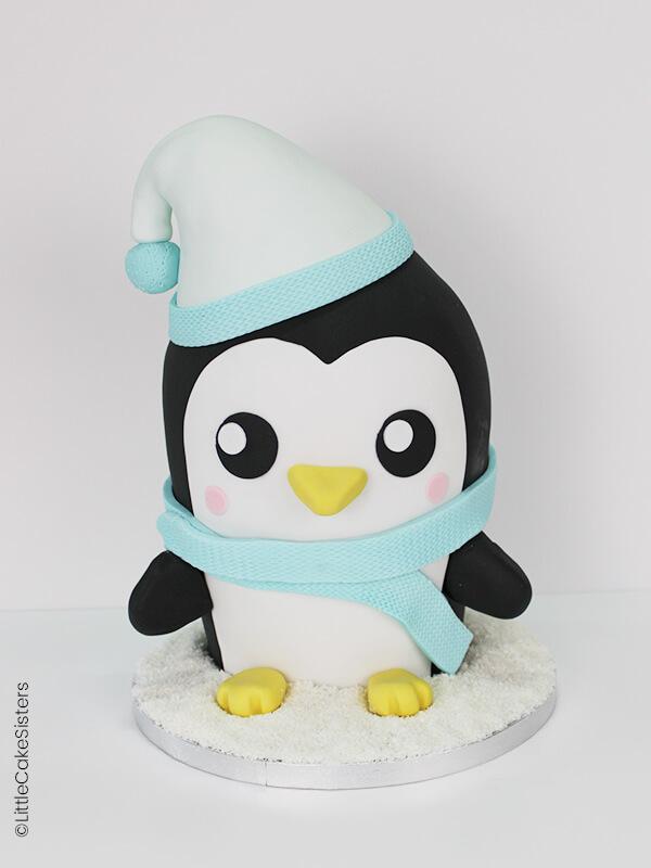 Le pingouin en pâte à sucre de Little Cake sisters.