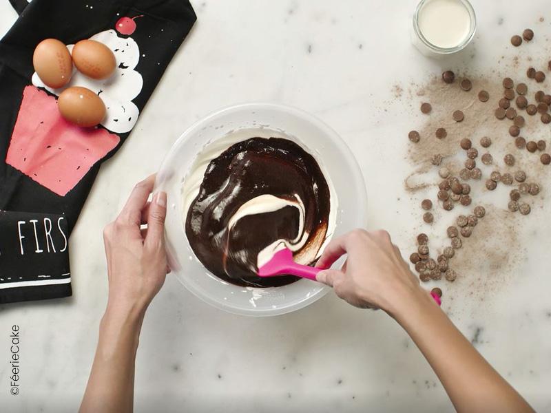 Préparation pour bavaroise au chocolat