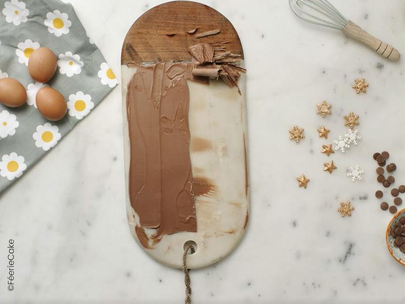 Délicieux copeaux de chocolat au lait