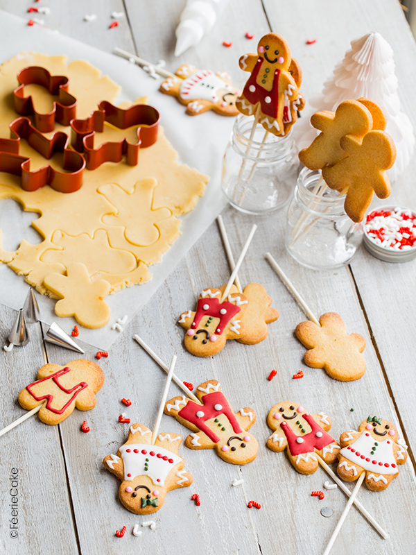 Cookies pops bonhomme de pain d'épices
