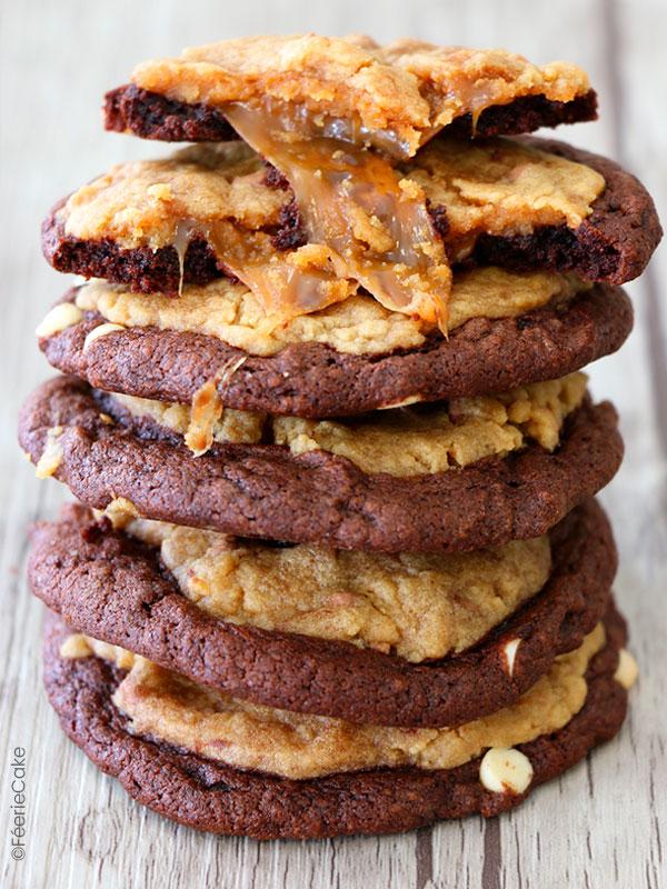 Recette de cookie fondant au coeur caramel