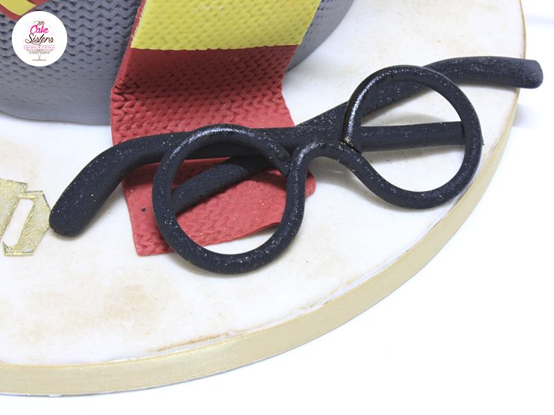 Les lunettes du héros pour le gâteau en Pâte à Sucre Harry Potter