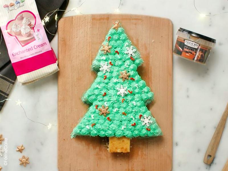 Layer cake sapin de Noël